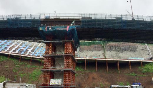 熊本高森線大切畑大橋復旧工事